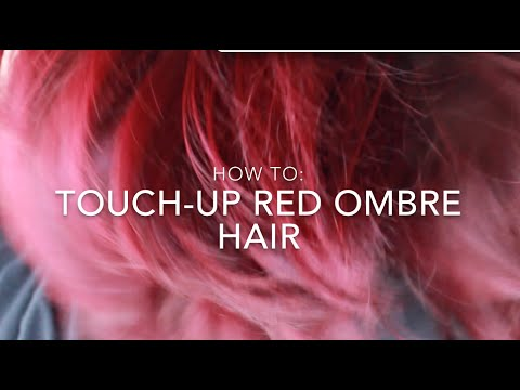 How To: Touch-up Red Ombre Hair | Ion color Brilliance Brights