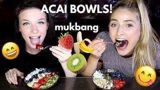 ACAI BOWLS! recipe &amp mukbang! Mukbang Monday