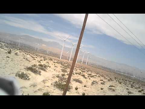 Turnigy Bonsai Flying in 30-40mph winds In palm spring Wind farm.