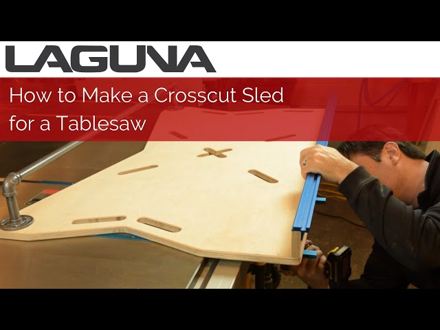 How to Make a Crosscut Sled for a Tablesaw | Woodworking
