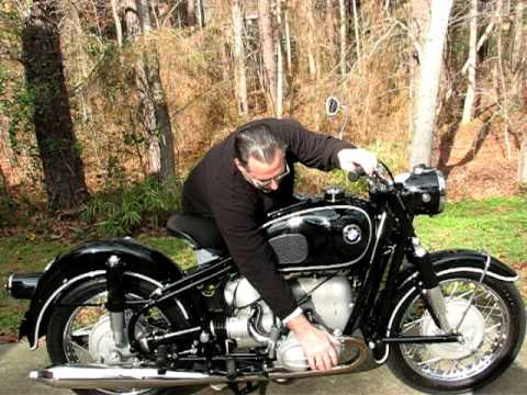 1969 bmw r69s startup - youtube