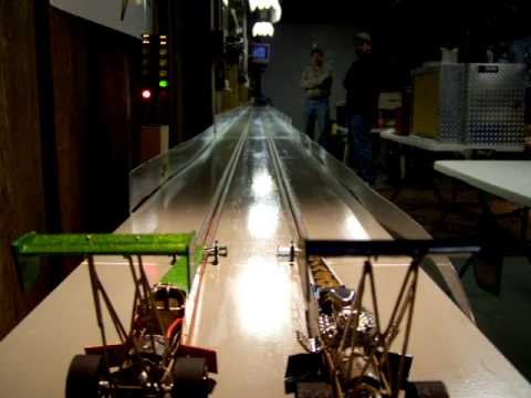 Top fuel 502's final Storm Dragway 03/12/09 slot car drag racing