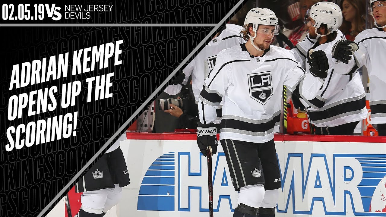 on sale 31308 31d5b Adrian Kempe Goes Top-Shelf Against New Jersey