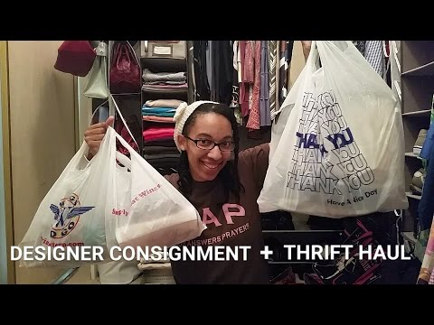 Designer Consignment + Thrift Haul: Coach, Kate Spade, Missoni, YSL