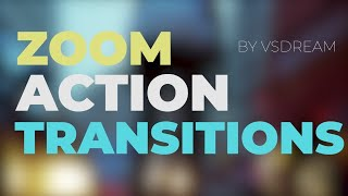 Zoom Action Transitions Premiere Pro Templates