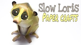 Slow Loris Paper Crafts tutorial !