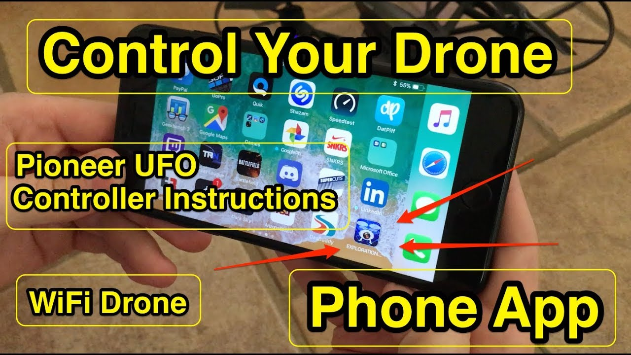How to Fly the Pioneer UFO Drone using Controller and Phone App #6