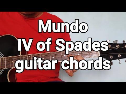 Mundo IV of Spades guitar chords - YouTube