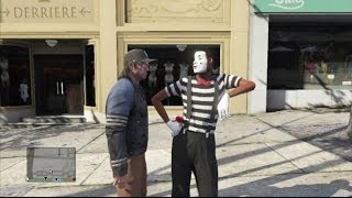 GTA5 Chasing off a street performer