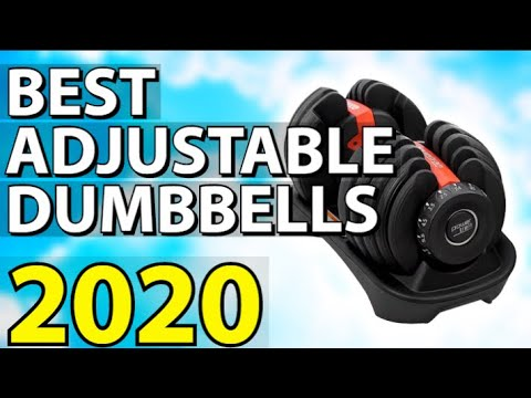 ✅ TOP 4: Best Adjustable Dumbbells 2020