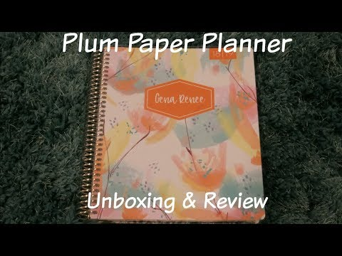 Plum Paper Planner 2018 Review