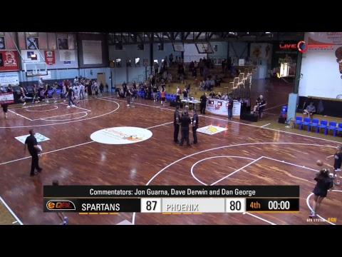 Sunshine Coast Phoenix at Brisbane Spartans Men's QBL 2017