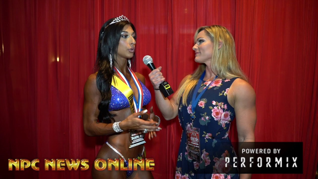 2018 IFBB Tampa ProBikini Winner Lauralie Chapados After Show Interview.