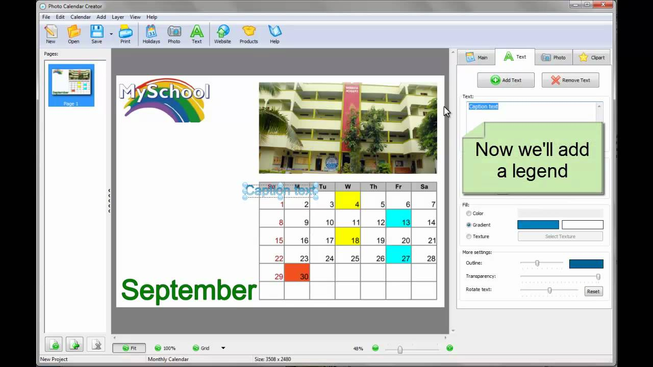 How to Make a Beautiful School Calendar YouTube