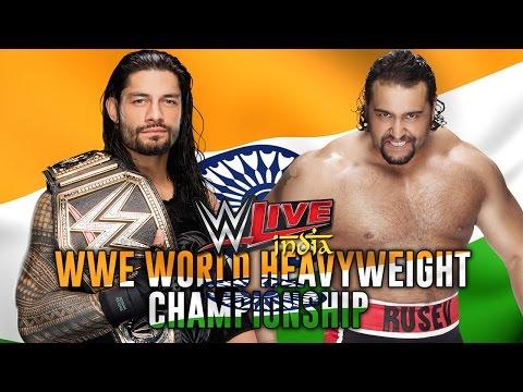 Roman Reigns Vs Rusev WWE Live India 2016...
