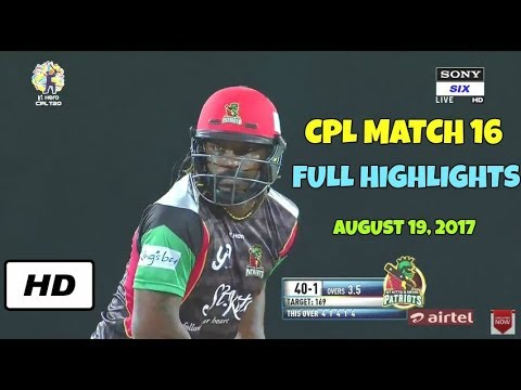 CPL T20 2017 Match 16 - St Kitts and Nevis Patriots vs Barbados Tridents Full Highlights HD