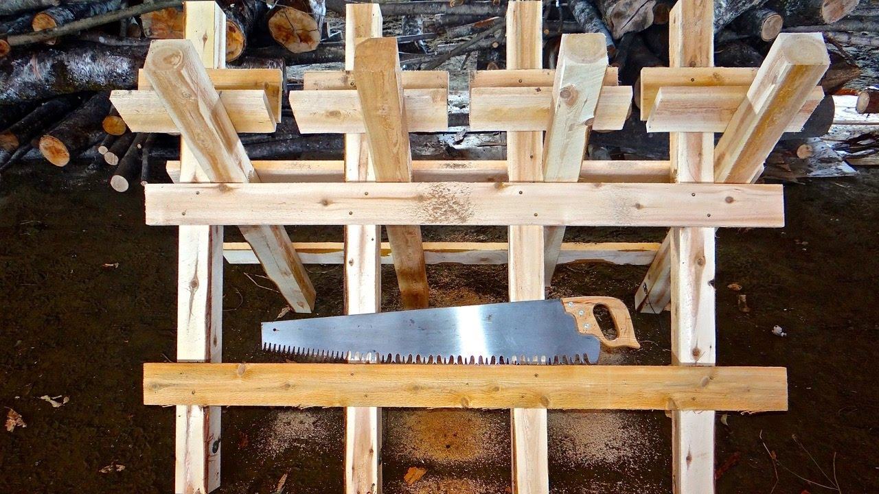 Build A Sawhorse For Cutting Logs
