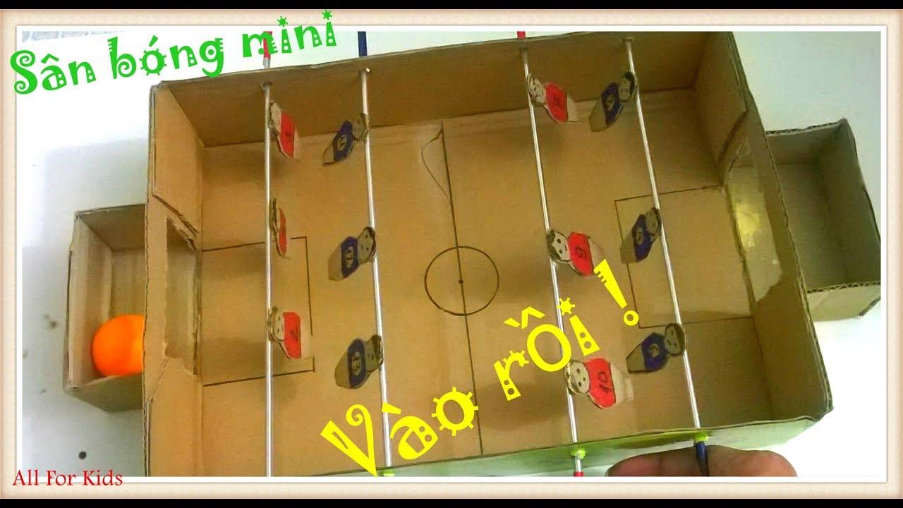 Làm Sân Bóng Đồ Chơi Mini – How To Make A Football Table