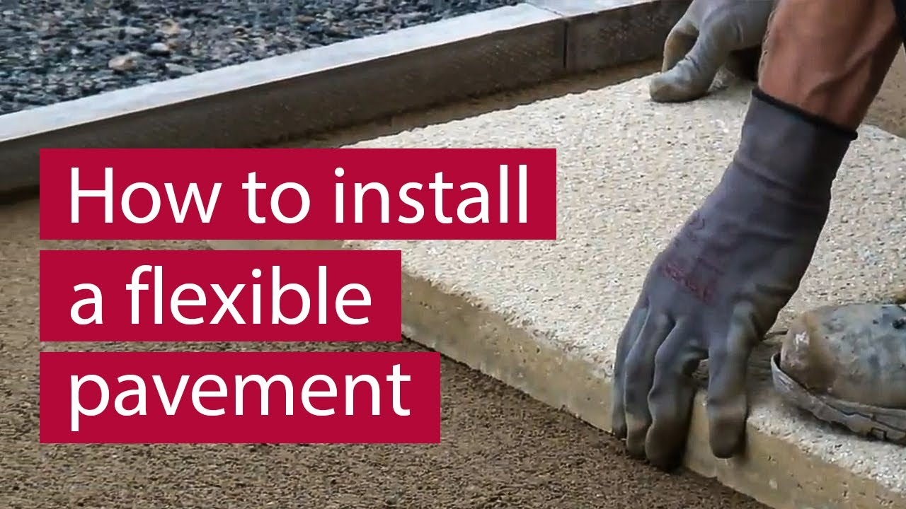 how to install concrete flag block paving flexibly commercial paving marshalls