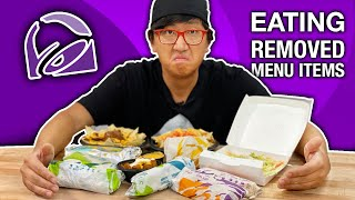 EATING Everything Taco Bell 🌮🔔 REMOVED from their MENU!!