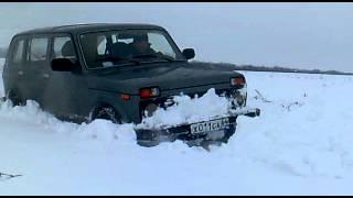 НИВА ВАЗ-2131М по снігу на І-511