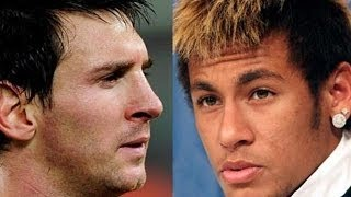 Messi and Neymar vs Ronaldniho Free Kicks - Месси и Неймар против Роналдиньо штрафные удары 2014 HD