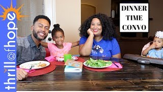 DINNER TIME CONVO! [FAMILY VLOG, DAILY VLOG, CHRISTIAN VLOG FAMILY, A DAY IN THE LIFE]