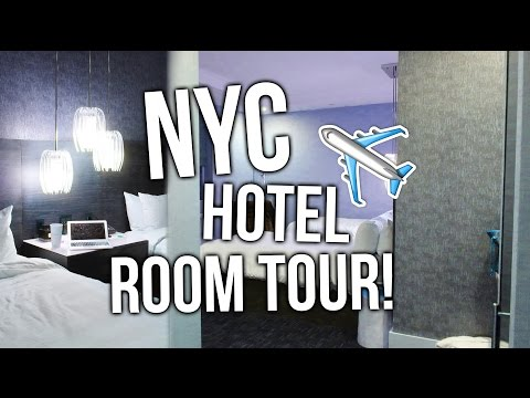 NEW YORK CITY HOTEL ROOM TOUR!!
