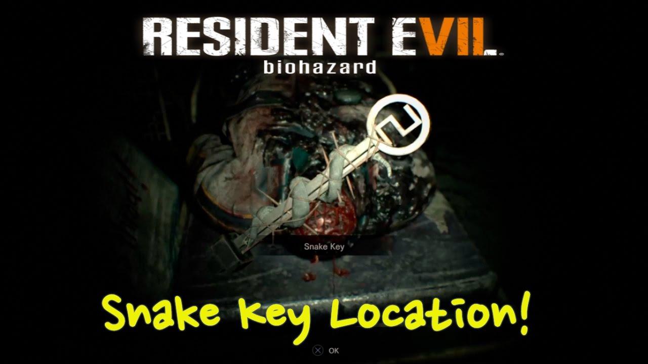 Snake Key Location Resident Evil 7 Re7 Youtube