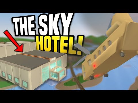 HUGE SKY HOTEL - Unturned Hotel Roleplay | Running A Hotel in The Sky!