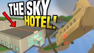 HUGE SKY HOTEL - Unturned Hotel Roleplay   Running A Hotel in The Sky!