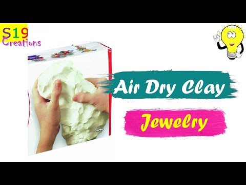 Diy Jewellery | Air dry clay jewellery | easy to make earrings and pendant | jewellery making