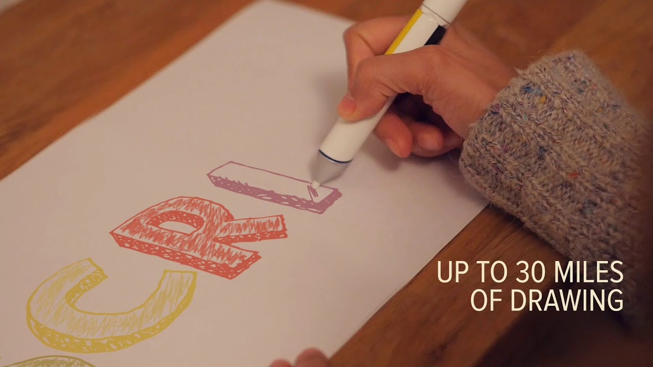 Scribble A Revolutionary Pen That Draws In Any Color Youtube