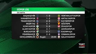 Fikstür ve Puan Durumu - Süper Lig 28.Hafta