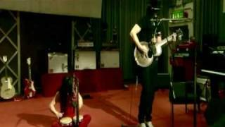 "The White Stripes perform ""As Ugly As I Seem"" at the BBC Studios in..."