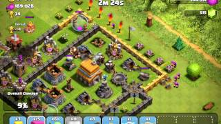 Clash of Clans, TH6 farming - 390k loot