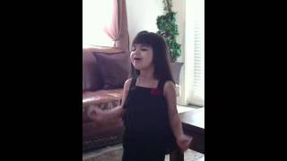 3 years old (ghannam) sing if I die young?