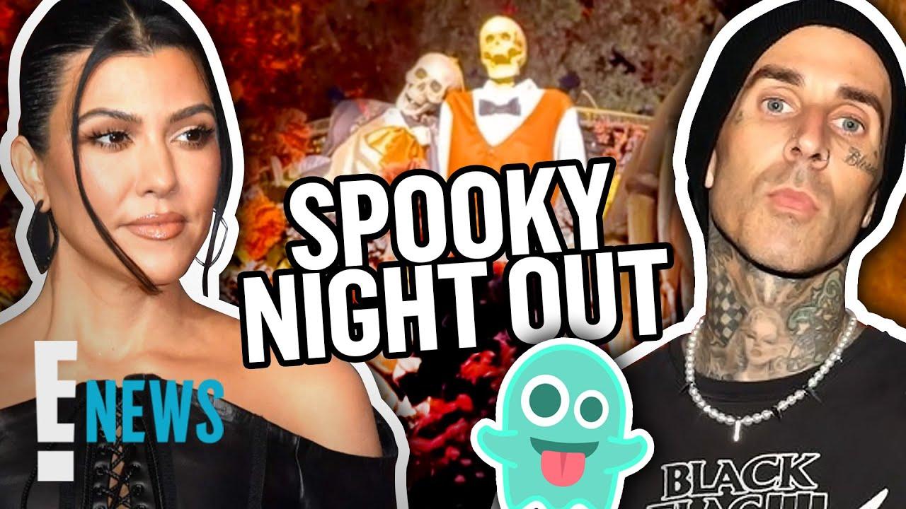 Kourtney Kardashian & Travis Barker's Spooky Night Out With Daughters News