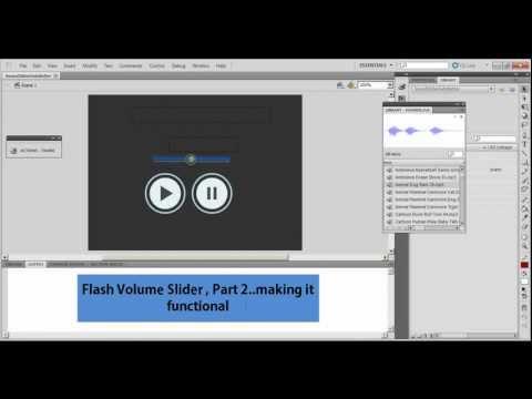Flash cs5 / 5.5 Tutorial : Sound Slider Part 2 (Volume Control using actionscript 3)