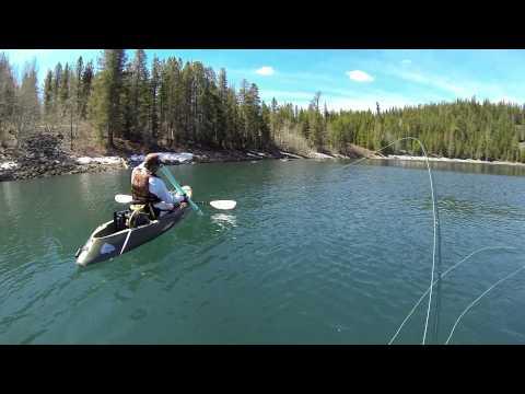 Fly Fishing At Crater Lake, CA.  May 11, 2013