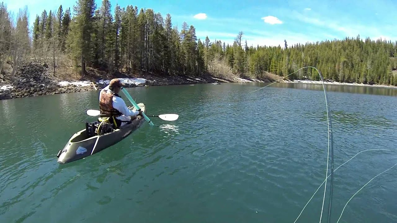 Fly fishing at crater lake ca may 11 2013 youtube for Oregon free fishing