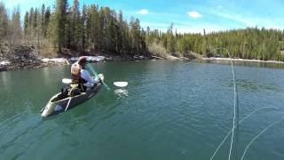 Fly Fishing at Crater Lake, CA.  May 11, 2013