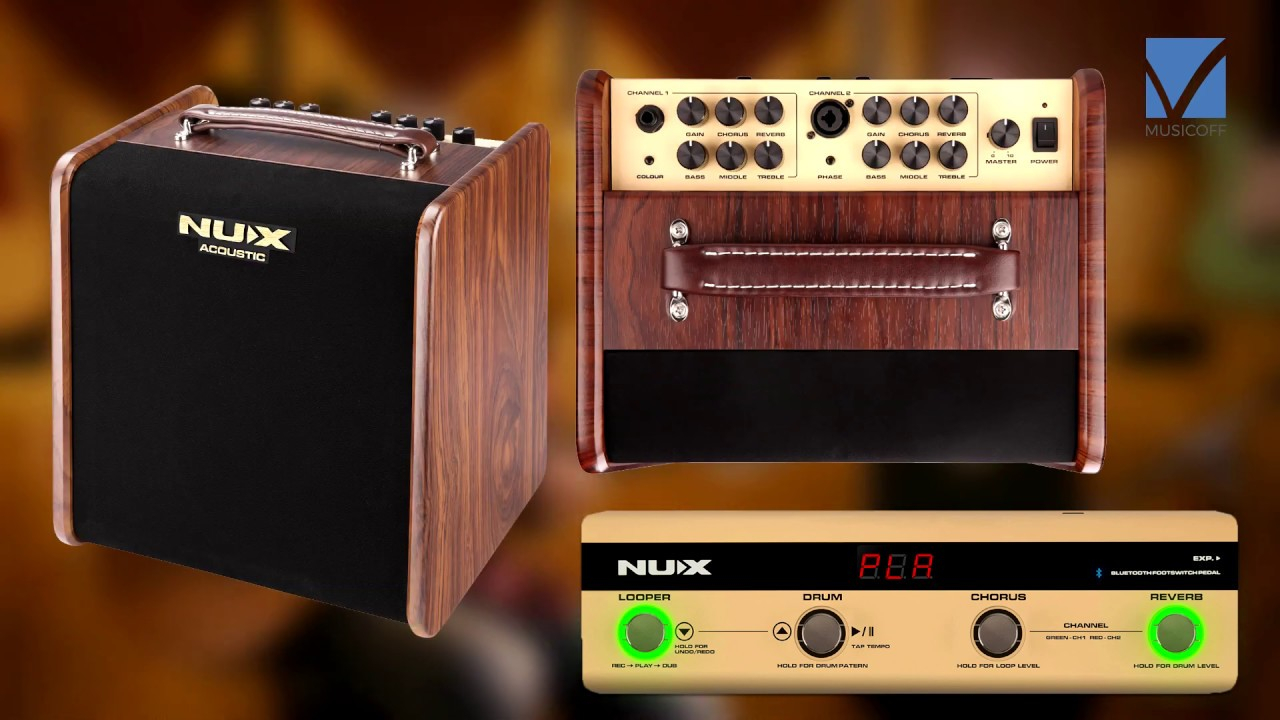 Nux Stageman AC-50 Acoustic Guitar Amplifier Video Test - YouTube