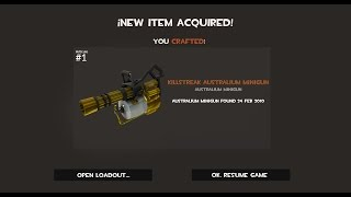 TF2: How to Craft an Australium Mini Gun