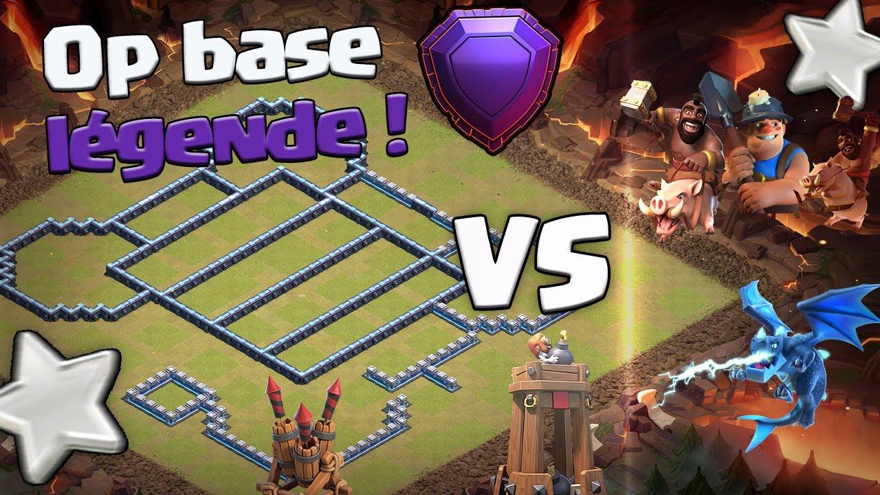 MA BASE LÉGENDE contre DES ABONNÉS ! Clash of Clans Fr