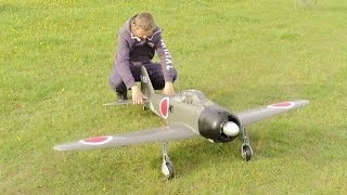 MAIDEN / FORCED LANDING RC TOPFLITE GIANT SCALE ZERO SAITO 3 CYL RADIAL 60cc - DEANO AT CMAC - 2015