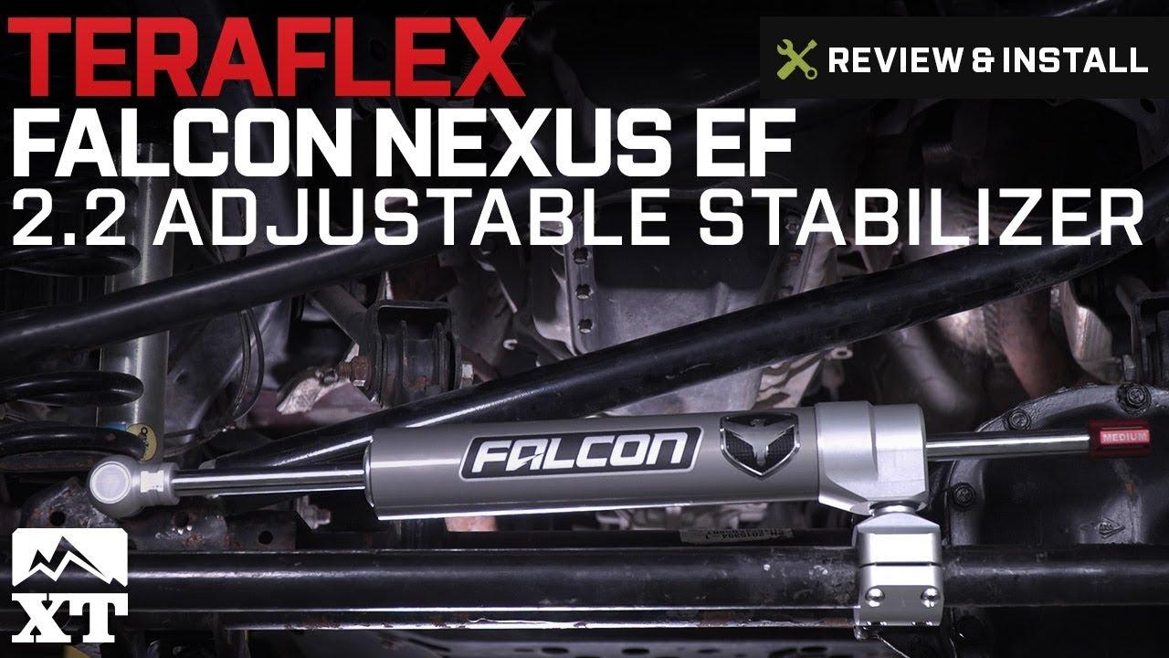 Jeep Steering Stabilizer >> Jeep Wrangler Teraflex Falcon Nexus EF 2.2 Adjustable Stabilizer (2007-2018 JK) Review & Install ...