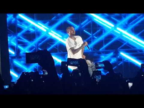 Chris Brown performs in the Philippines
