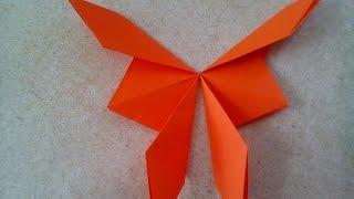 Простое оригами для детей  Как сделать бабочку(Оригами - древнее искусство складывания фигурок из бумаги. Искусство оригами своими корнями уходит в Древн..., 2016-04-14T15:25:23.000Z)