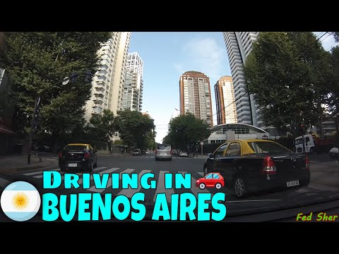 Driving in Buenos Aires (from Palermo to Núñez)